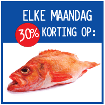 30% discount on fish every Monday at Marqt Amsterdam