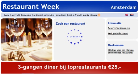 Restaurant Week Amsterdam - Loading...
