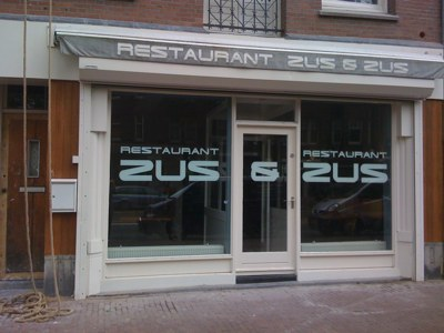 Zus en Zus Amsterdam - Restaurant Front with Signs of Reopening