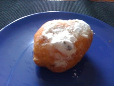 oliebollen - with powdered sugar