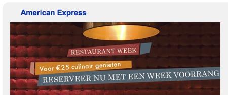 restaurant week amsterdam amercian express